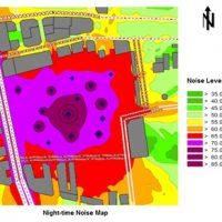 Calcul de l'impact du bruit de chantier sur les façades des bâtiments